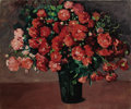 Fine Art - Painting, American:Modern  (1900 1949)  , JANE PETERSON (American 1876-1965). Bouquet of Red Flowers.Oil on canvas. 25 x 30 inches (63.5 x 76.2 cm). Signed at lo...