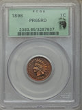 Proof Indian Cents, 1898 1C PR65 Red PCGS. Eagle Eye Photo Seal. PCGS Population: (31/14). NGC Census: (10/9). CDN: $1,150 Whsle. Bid for probl...