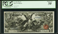 Large Size:Silver Certificates, Fr. 268 $5 1896 Silver Certificate PCGS About New 50.. ...