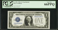 Small Size:Silver Certificates, Fr. 1601 $1 1928A Silver Certificate. PCGS Gem New 66PPQ.. ...