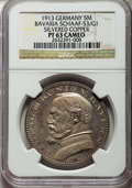 German States:Bavaria, German States: Bavaria. Ludwig III silvered copper Proof Pattern 5Mark 1913 PR63 Cameo NGC,...