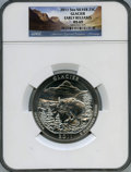Modern Bullion Coins, 2011 25C Glacier Five Ounce Silver, Early Release MS69 NGC. NGC Census: (2624/0). PCGS Population: (2/0)....