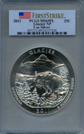 Modern Bullion Coins, 2011 25C Glacier Five Ounce Silver, First Strike MS69 Prooflike PCGS. PCGS Population: (3845/0). ...