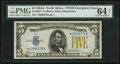 Small Size:World War II Emergency Notes, Fr. 2307* $5 1934A North Africa Silver Certificate. PMG Choice Uncirculated 64 EPQ.. ...