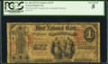 National Bank Notes:Colorado, Central City, CT - $1 1875 Fr. 384 The First NB Ch. # 2129. ...