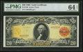 Large Size:Gold Certificates, Fr. 1180 $20 1905 Gold Certificate PMG Choice Uncirculated 64 Net.....