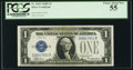 Small Size:Silver Certificates, Fr. 1605 $1 1928E Silver Certificate. PCGS Choice About New 55.. ...
