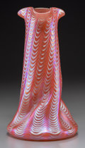 Art Glass:Loetz, A Loetz Iridescent Ribbed Glass Vase, early 20th century. 9-5/8inches high (24.4 cm). ...