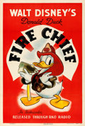 "Movie Posters:Animation, Donald Duck in Fire Chief (RKO, 1940). One Sheet (27.5"" X 40.5"").. ..."