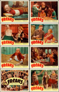 Movie Posters:Horror, Freaks (Excelsior, R-1949). Lobby Card Set of 8 (1...
