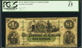 Canadian Currency, PC-2c $1 1866. ...