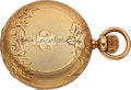 Timepieces:Pocket (pre 1900) , Elgin Heavy 18k Gold J. V. Farwell With Abbott's Conversion . ...