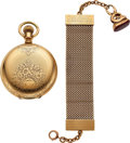 Timepieces:Pocket (pre 1900) , Elgin 16 Size Convertible With 14k Gold Presentation Fob. ...