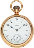 Timepieces:Pocket (pre 1900) , E. Howard & Co. Boston 14k Gold Series VIII Deer Grade, SpecialDamaskeening. ...