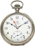 Timepieces:Pocket (pre 1900) , Ball Hamilton B of RT Official Standard 21 Jewel 18 Size, TripleSigned. ...