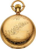 Timepieces:Pocket (pre 1900) , E. Howard & Co. Boston Heavy 18k Gold Series VII. ...