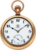 Timepieces:Pocket (pre 1900) , Ball 19 Jewel Official ORC Standard, Triple Signed. ...