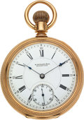 Timepieces:Pocket (pre 1900) , E. Howard Watch Co. 14k Gold Series VII . ...