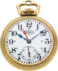 Timepieces:Pocket (post 1900), Ball Hamilton Rare 998B Prototype 23 Jewel Official Standard. ...