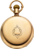 Timepieces:Pocket (pre 1900) , E. Howard & Co. Gold Prescott Model 16 Size # 50621. ...