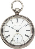 "Timepieces:Pocket (pre 1900) , Newark Watch Works 18 Size ""The Newark Watch"" No. 9077, CaseEngraved For Civil War Soldier O.W. Brackett. ..."