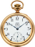 Timepieces:Pocket (post 1900), Ball B of LE 19 Jewel Official Standard. ...