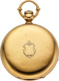 Timepieces:Pocket (pre 1900) , New York Watch Co. 18k Gold 16 Size H.G. Norton, Original HuntersCase. ...