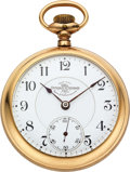 Timepieces:Pocket (pre 1900) , Ball & Co. Hamilton 17 Jewel Single Roller Official Standard....