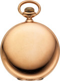 Timepieces:Pocket (pre 1900) , Ball 14k Gold 16 Size Webb. C. Ball Marked Hunters Case, 17 Jewel Official Standard. ...