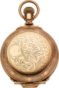 Timepieces:Pocket (pre 1900) , Independent Watch Co. Fredonia NY (Illinois) Scarce Transitional,Full Nickel Movement Including The Main Plate. ...