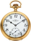 Timepieces:Pocket (post 1900), Ball 23 Jewel Official Standard Special Order 18k Gold Webb C. Ball Case. ...