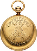 Timepieces:Pocket (pre 1900) , Thomas Howard & Co. Boston Heavy 18k Gold 18 Size Early American Key Wind. ...
