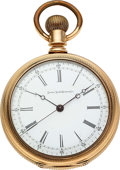 Timepieces:Pocket (pre 1900) , Elgin 14k Gold 16 Size Doctor's Watch. ...