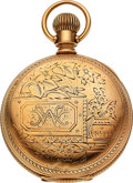 "Timepieces:Pocket (pre 1900) , J.P. Stevens & Bro. ""New Model"" 14k Gold Columbus 18 Size. ..."