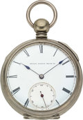 Timepieces:Pocket (pre 1900) , United States Watch Co. Asa Fuller, Patented Regulator. ...