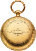 Timepieces:Pocket (pre 1900) , New York Watch Co. Massive 18k Gold Frederick Billings 18 Size Hunter. ...