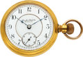 "Timepieces:Pocket (pre 1900) , San Jose Watch Co. ""Overland Mail"" 18 Size. ..."