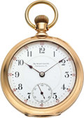 Timepieces:Pocket (pre 1900) , Webb C. Ball Co. Rare 14k Gold 18 Size Early Hamilton. ...