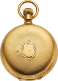 "Timepieces:Pocket (pre 1900) , Waltham 18k Gold 8 Size Model 1873 ""Made for Howard & Co. FifthAve. N.Y. Excelsior No. 9"". ..."