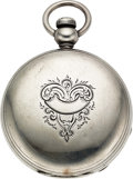 Timepieces:Pocket (pre 1900) , Waltham Early Silver Key Wind Signed Excelsior New York, No. 12104....