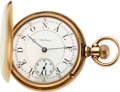 Timepieces:Pocket (pre 1900) , Waltham 14k Gold Earliest Nickel Model 72 Employee Or School Watch....