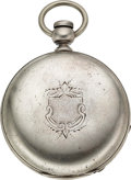 Timepieces:Pocket (pre 1900) , Independent Watch Co. Fredonia N.Y. Silver Key Wind. ...