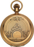 Timepieces:Pocket (pre 1900) , United States Watch Co. Gold S.M. Beard Key Wind, ButterflyCut-Out. ...