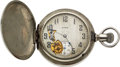 Timepieces:Pocket (pre 1900) , Elgin Exposed Escapement School Or Employee's Watch. ...