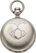 Timepieces:Pocket (pre 1900) , Independent Watch Co. Fredonia N.Y. 4 Ounce Silver Key Wind. ...