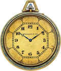 "Timepieces:Pocket (post 1900), Waltham 14k Gold & Enamel Riverside ""A', Case Patented Apr. 16''12 No. 8696. ..."