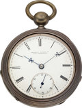 Timepieces:Pocket (pre 1900) , Cornell Watch Co. San Francisco Silver 18 Size. ...