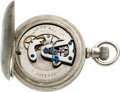 Timepieces:Pocket (pre 1900) , Auburndale Rotary Rare Patented Lever Movement, No. 356. ...