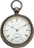 Timepieces:Pocket (pre 1900) , Waltham 70 Model Signed Elijah Knight Concord N.H.. ...