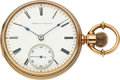 "Timepieces:Pocket (pre 1900) , Waltham Excelsior 14k Gold 14 Size ""Made Only For Howard & Co.Fifth Ave. N.Y."". ..."